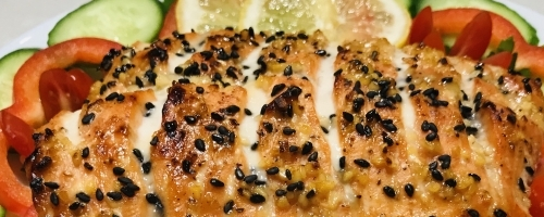 Honey Glazed Baked Salmon