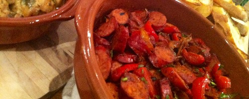 Honey-Glazed Chorizo with Paprika and Smokey Roasted Peppers