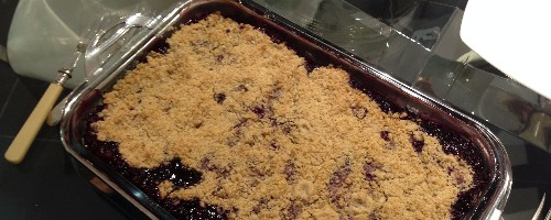 Fresh blueberry crisp