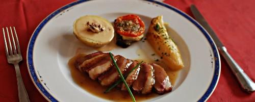 Chef domicile daniel l 39 europe langres france menu 855 - Magret de canard poele ...