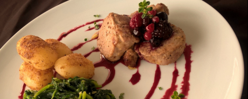 Pork loin medallion with wild berries