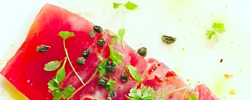 Crudo of tuna