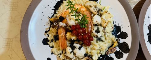 Seafood Risotto, Squid ink